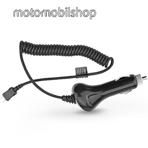 MOTOROLA Moto Z4 Szivargyújtó töltő/autós töltő - USB 3.1 Type-C spirál kábellel, 12-24VDC, DC 5V / 2A - FEKETE