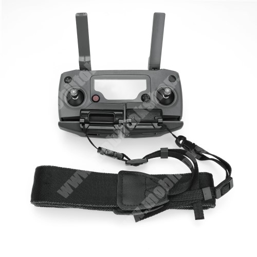 LG G4c (H525N) Távirányító nyakpánt / telefon tartó DJI Mavic Mini / Air / 2 / Mavic 2 Pro / Mavic 2 Zoom Camera - csatos, 131cm hosszú - FEKETE