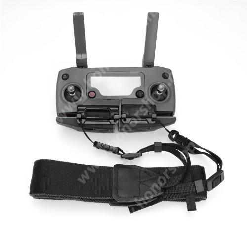 HUAWEI Honor V40 5G Távirányító nyakpánt / telefon tartó DJI Mavic Mini / Air / 2 / Mavic 2 Pro / Mavic 2 Zoom Camera - csatos, 131cm hosszú - FEKETE