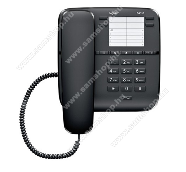 TELEFON készülék, vezetékes SIEMENS Gigaset DA310 FEKETE