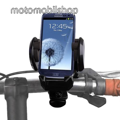 MOTOROLA U6 Telefon tartó kerékpár / bicikli UNIVERZÁLIS - elforgatható - 50-120 mm-ig nyíló bölcsővel