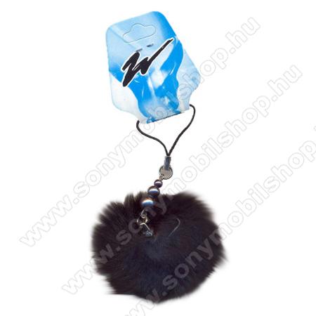 SONY Xperia E4g (E2003 / E2006 / E2053)Telefondísz - POMPON - fekete