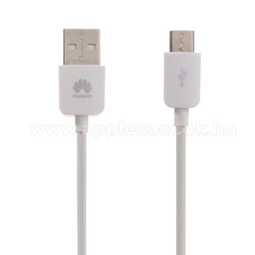 [83556] HUAWEI 1A adatátvitel adatkábel, USB töltõ, USB / microUSB, 1m, Fehér
