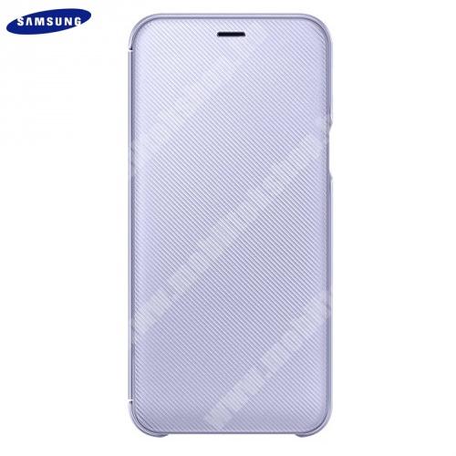 Tok álló (aktív flip, oldalra nyíló, bankkártya tartó, karbon minta) LILA - EF-WA605CVEGWW - Samsung Galaxy A6+ (2018) SM-A605F - GYÁRI