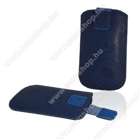 SAMSUNG SGH-i900 OmniaTok álló (körmintás, kihúzható tépőzár, övre fűzhető) XXL méret KÉK