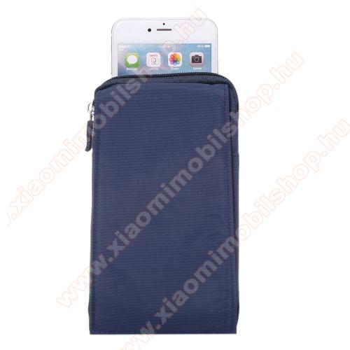 Xiaomi Black Shark HeloTok - álló, univerzális, zipzár, tépőzár, karabíner, övre fűzhető - KÉK - 105 x 180 x 15 mm