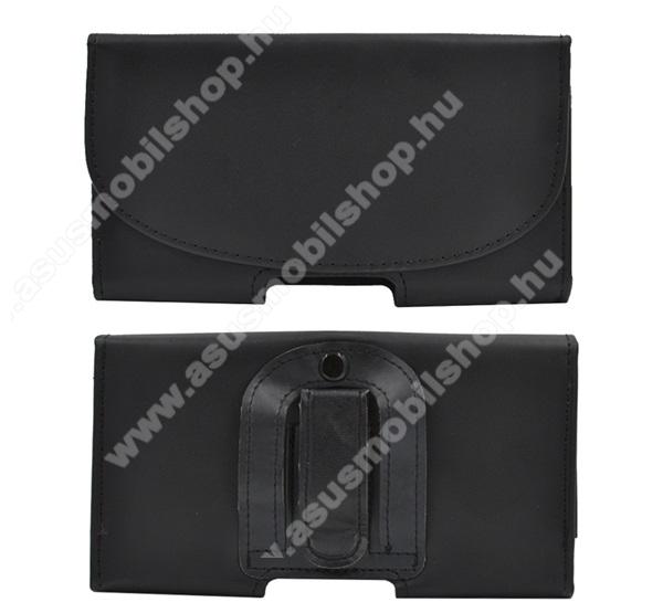 ASUS PadFone Infinity 2 A86Tok fekvő, bőr - rejtett mágnescsat, övre fűzhető, övcsipesz - 154 x 82 x 18 - FEKETE