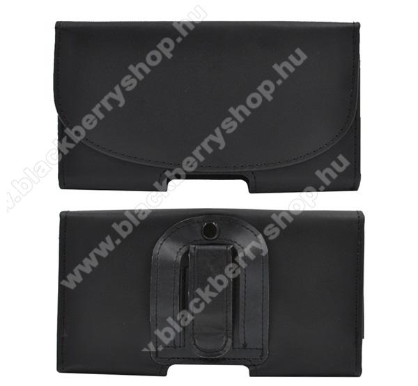 BLACKBERRY Z30Tok fekvő, bőr - rejtett mágnescsat, övre fűzhető, övcsipesz - 154 x 82 x 18 - FEKETE