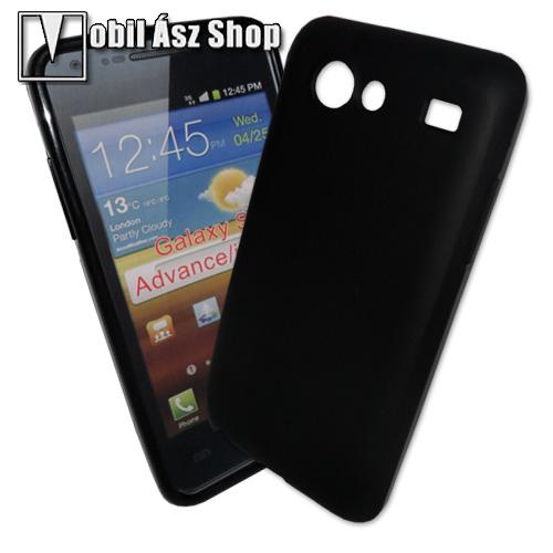 Tok - telefonv�d� gumi / szilikon tok (F�NYES/MATT) - FEKETE - SAMSUNG GT-I9070 Galaxy S Advance