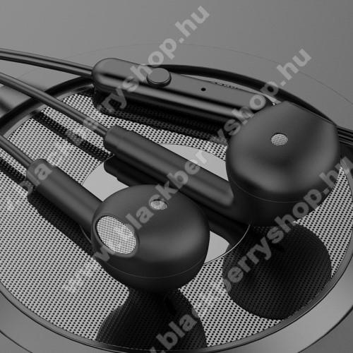 TOPK F17 UNIVERZÁLIS sztereo headset - 3,5mm jack csatlakozó, beépített mikrofon - FEKETE