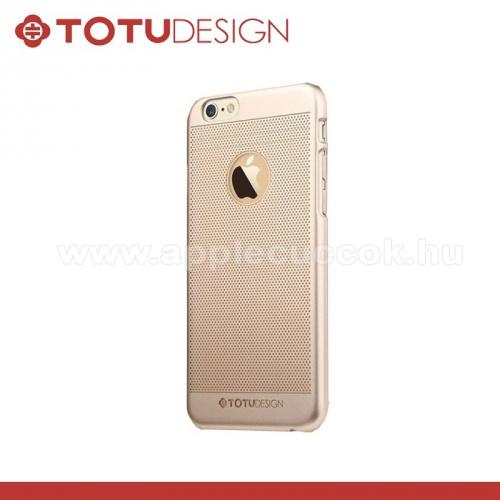APPLE iPhone 6TOTU Ambulatory műanyag védő tok / hátlap - lyukacsos minta - ARANY - APPLE iPhone 6 - GYÁRI