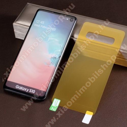 TPU hátlapvédő fólia - Ultra Clear - 1db, törlőkendővel, A TELJES HÁTLAPOT VÉDI! - SAMSUNG SM-G973F Galaxy S10