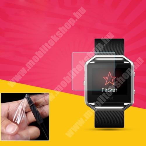 Fitbit Blaze TPU képernyővédő fólia - CLEAR - 1db, törlőkendővel - A TELJES ELŐLAPOT VÉDI! - Fitbit Blaze