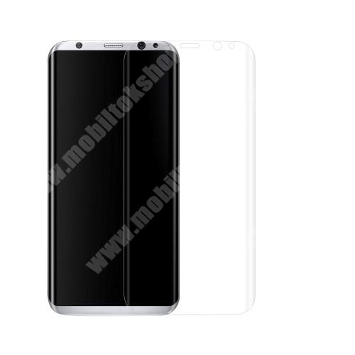 TPU képernyővédő fólia - TELJES KIJELZŐRE! - 4H, 01mm - SAMSUNG SM-G955 Galaxy S8 Plus
