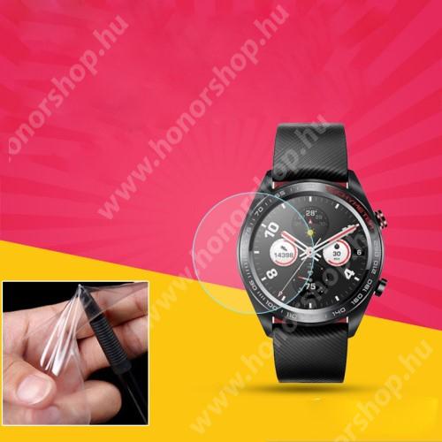 HUAWEI Watch Magic TPU okosóra képernyővédő fólia - CLEAR - 1db, törlőkendővel - A TELJES ELŐLAPOT VÉDI! - HUAWEI Watch Magic