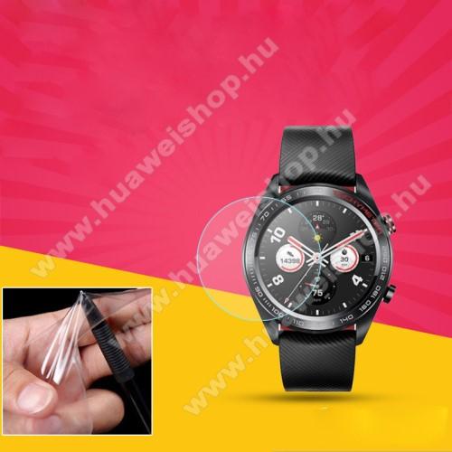 HUAWEI Watch MagicTPU okosóra képernyővédő fólia - CLEAR - 1db, törlőkendővel - A TELJES ELŐLAPOT VÉDI! - HUAWEI Watch Magic