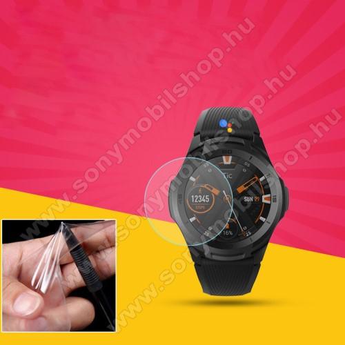 TPU okosóra képernyővédő fólia - CLEAR - 1db, törlőkendővel - A TELJES ELŐLAPOT VÉDI! - Mobvoi Ticwatch E2 / Mobvoi TicWatch S2