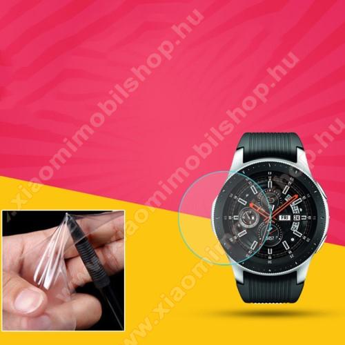 TPU okosóra képernyővédő fólia - CLEAR - 1db, törlőkendővel - A TELJES ELŐLAPOT VÉDI! - SAMSUNG Galaxy Watch3 41mm (SM-R855F)