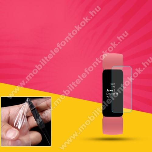 Fitbit Inspire 2TPU okosóra képernyővédő fólia - CLEAR - 1db, törlőkendővel - A TELJES ELŐLAPOT VÉDI! - Fitbit Inspire 2