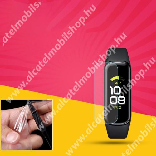 TPU okosóra képernyővédő fólia - CLEAR - 1db, törlőkendővel - A TELJES ELŐLAPOT VÉDI! - SAMSUNG Galaxy Fit 2 (SM-R220)