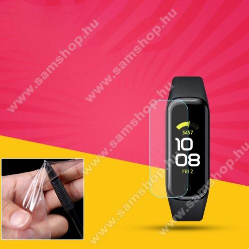 SAMSUNG Galaxy Fit 2 (SM-R220)TPU okosóra képernyővédő fólia - CLEAR - 1db, törlőkendővel - A TELJES ELŐLAPOT VÉDI! - SAMSUNG Galaxy Fit 2 (SM-R220)