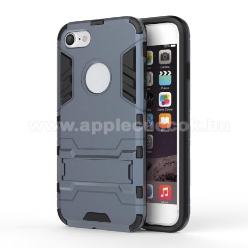 TRANSFORM műanyag védő tok / hátlap - SÖTÉTKÉK - szilikon betétes, kitámasztható - ERŐS VÉDELEM! - APPLE iPhone 7 (4.7)  / APPLE iPhone 8 (4.7)