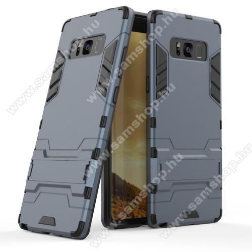 TRANSFORM műanyag védő tok / hátlap - SÖTÉTKÉK - szilikon betétes, kitámasztható - ERŐS VÉDELEM! - SAMSUNG SM-N950F Galaxy Note8