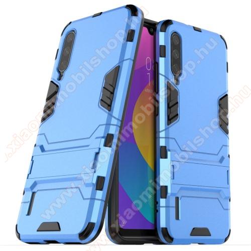 TRANSFORM műanyag védő tok / hátlap - VILÁGOSKÉK - szilikon betétes, kitámasztható - ERŐS VÉDELEM! - Xiaomi Mi CC9e / Xiaomi Mi A3