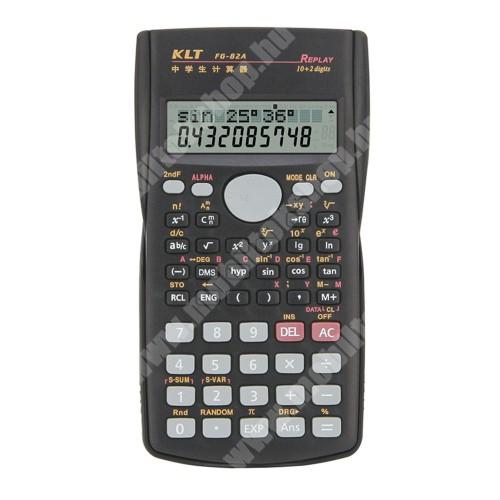 PRESTIGIO MultiPad 8.0 PRO DUO Tudományos számológép - 240 műveleti funkció, nagy 2 soros LCD kijelző, csúszásgátló, műanyag védőfedéllel a por és karcolás elkerülése ellen, 2x AAA elemmel működik (NEM TARTOZÉK), 156 x 84 x 18mm - FEKETE