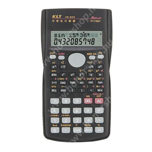 HUAWEI Honor V40 5G Tudományos számológép - 240 műveleti funkció, nagy 2 soros LCD kijelző, csúszásgátló, műanyag védőfedéllel a por és karcolás elkerülése ellen, 2x AAA elemmel működik (NEM TARTOZÉK), 156 x 84 x 18mm - FEKETE