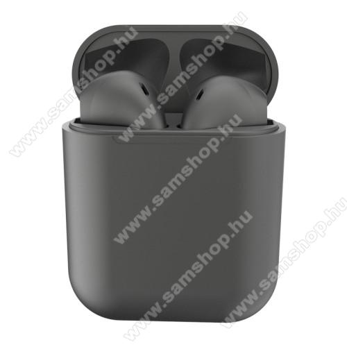 SAMSUNG GT-T401GTWS SZTEREO BLUETOOTH HEADSET - v5.0, többfunkciós gomb, mikrofon, zajszűrő, támogatja az fülhallgató külön használatát, 3 óra zenehallgatási idő, 300mAh töltőtok - TITÁNSZÜRKE