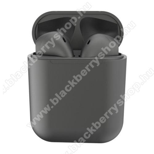 BLACKBERRY 8110 PearlTWS SZTEREO BLUETOOTH HEADSET - v5.0, többfunkciós gomb, mikrofon, zajszűrő, támogatja az fülhallgató külön használatát, 3 óra zenehallgatási idő, 300mAh töltőtok - TITÁNSZÜRKE