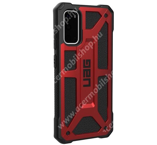 UAG MONARCH műanyag védő tok / hátlap - szilikon betétes, csúszásgátló, légpárnás sarok, ERŐS VÉDELEM! - PIROS / FEKETE - SAMSUNG Galaxy S20 (SM-G980F) / SAMSUNG Galaxy S20 5G (SM-G981) - GYÁRI