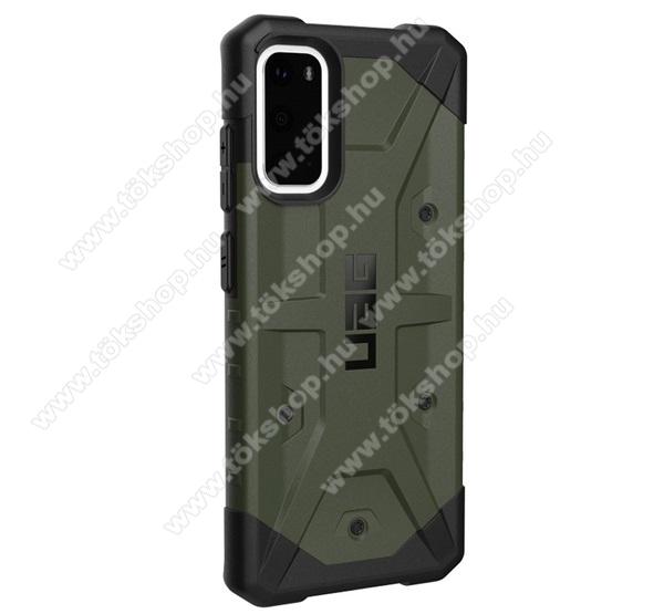 UAG PATHFINDER műanyag védő tok / hátlap - szilikon betétes, csúszásgátló, légpárnás sarok, ERŐS VÉDELEM! - ZÖLD - SAMSUNG Galaxy S20 (SM-G980F) / SAMSUNG Galaxy S20 5G (SM-G981) - GYÁRI