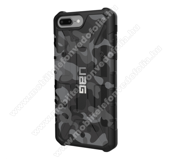 UAG PATHFINDER SE Camo műanyag védő tok / hátlap - szilikon betétes, csúszásgátló, légpárnás sarok, ERŐS VÉDELEM! - FEKETE / TEREPMINTA - APPLE iPhone 7 Plus / APPLE iPhone 8 Plus / APPLE iPhone 6 Plus / APPLE iPhone 6s Plus - GYÁRI