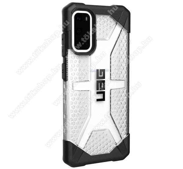 UAG PLASMA műanyag védő tok / hátlap - szilikon betétes, csúszásgátló, légpárnás sarok, ERŐS VÉDELEM! - ÁTLÁTSZÓ - SAMSUNG Galaxy S20 (SM-G980F) / SAMSUNG Galaxy S20 5G (SM-G981) - GYÁRI