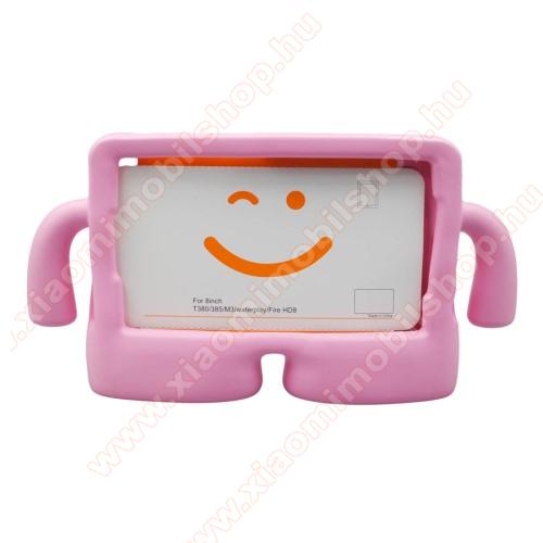 UNIVERZÁLIS 3D tablet PC habszivacs védő keret - asztali tartó funkciós, fogantyú, ERŐS VÉDELEM! 8