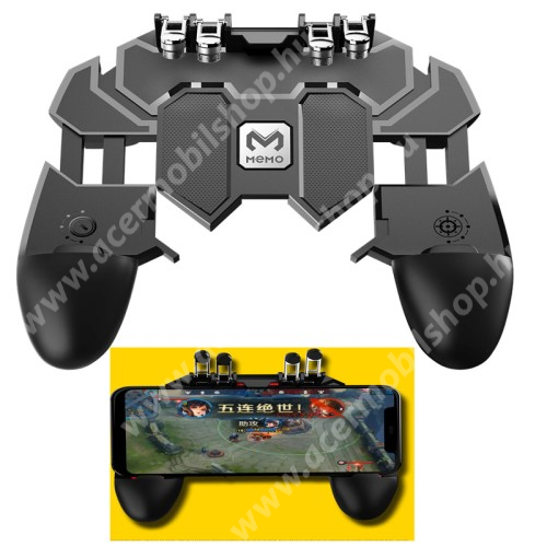 """ACER beTouch E210 UNIVERZÁLIS AK66 Kontroller / Joystick - ravasz FPS játékokhoz, PUBG-hez ajánlott, 6.5""""-os méretig kompatibilis okostelefonokkal - FEKETE - 140 x 130 x 45mm"""