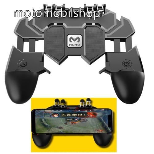 """UNIVERZÁLIS AK66 Kontroller / Joystick - ravasz FPS játékokhoz, PUBG-hez ajánlott, 6.5""""-os méretig kompatibilis okostelefonokkal - FEKETE - 140 x 130 x 45mm"""