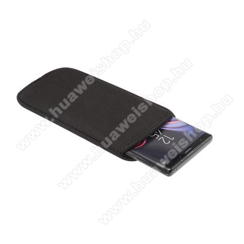 HUAWEI MediaPad T3 7.0UNIVERZÁLIS álló tok - FEKETE - POUCH, belebújtathatós, neoprén - 185 x 95mm teljes hosszúság