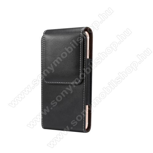 SONY Xperia Z5 Premium DualUNIVERZÁLIS álló tok - övre fűzhető, gumis, mágneses záródás - 5,5
