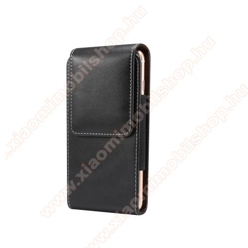 Xiaomi Redmi Note 3UNIVERZÁLIS álló tok - övre fűzhető, gumis, mágneses záródás - 5,5