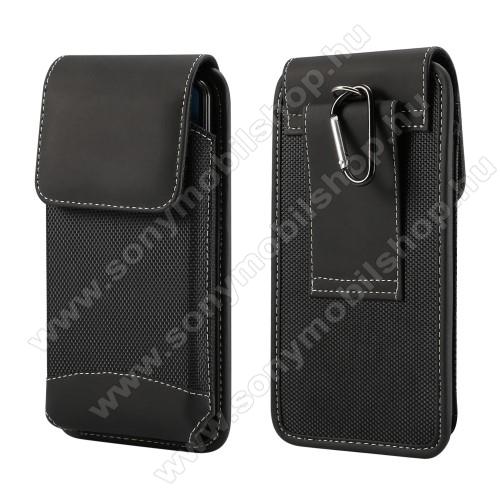 Sony Xperia XA1 PlusUNIVERZÁLIS álló tok - övre fűzhető / karabiner, gumis, tépőzáras záródás - 5,7-6,3