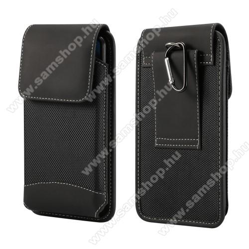 SAMSUNG Galaxy S Wifi 5.0UNIVERZÁLIS álló tok - övre fűzhető, karabiner, gumis, tépőzáras záródás - 4.7-5.2