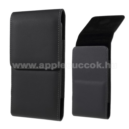 APPLE iPhone 7 PlusUNIVERZÁLIS álló tok - övre fűzhető, mágnes záródás, gumis - max 6.7
