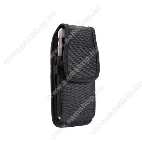 SAMSUNG Galaxy Note FE (SM-N935F)UNIVERZÁLIS álló tok - övre fűzhető / övcsipesz, tépőzáras záródás - 5,7-6,3