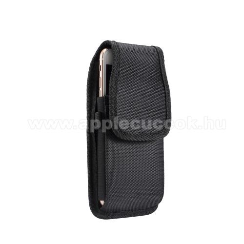 APPLE iPhone XSUNIVERZÁLIS álló tok - övre fűzhető / övcsipesz, tépőzáras záródás - 5,7-6,3