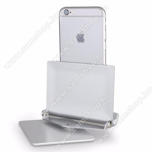 SAMSUNG SGH-B130UNIVERZÁLIS alumínium asztali tartó / állvány - 360°-ban elforgatható, 10 különböző látószög, 4-10