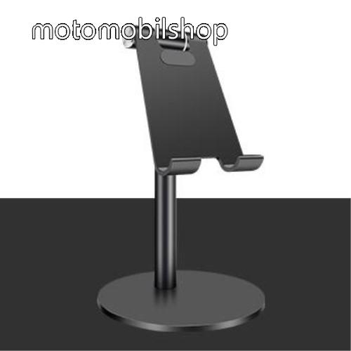 MOTOROLA U6 UNIVERZÁLIS alumínium asztali tartó / állvány - függőlegesen 270°-ban állítható, kábelvezető kivágás, csúszásgátló - FEKETE