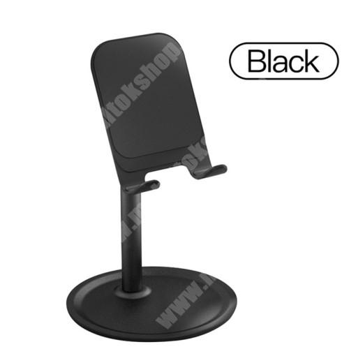 Elephone P9 Water UNIVERZÁLIS alumínium asztali tartó / állvány - 5 ° ~ 45 °-os szöghez állítható, nem kihúzató!, csúszásgátló, 12 cm magas - FEKETE